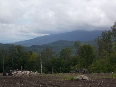 Private RV Camping in White Mountains with close-up views of Kinsman Mountain!!!