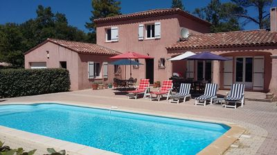 Photo for A Beautiful Modern Villa - Sleeps 8 + baby cot with Large Pool secluded garden