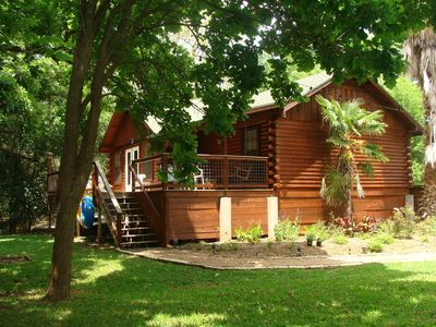 Photo for San Marcos River Log Cabin