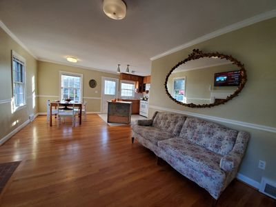 Photo for Safe Haven featuring brand new towels, linens, TV, gas cooking, stylish reno!