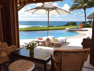 Photo for Luxury Oceanfront Villa, World Class Service, Gym, Private Chef, Fully Staffed