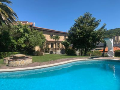 Manor house of own style, with large garden and private pool.
