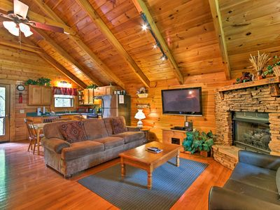 Photo for Serene Sevierville Log Cabin w/Hot Tub, Pool Table