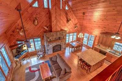Soaring cathedral ceiling and spacious living space