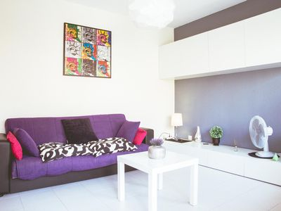 Photo for Spacious Las Dunas 154 apartment in Corralejo with shared terrace.