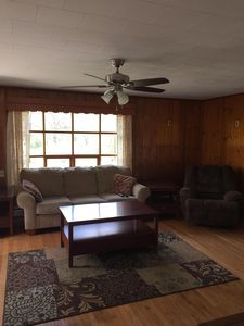 large couch and recliner