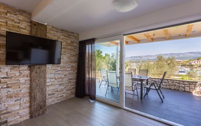 Photo for New Unique Seaview Apartment Trava 50m from the Seaside in Klimno, island Krk