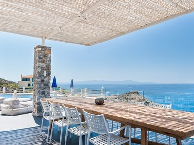 Photo for Penelope, a seafront villa with stunning sea & sunset views
