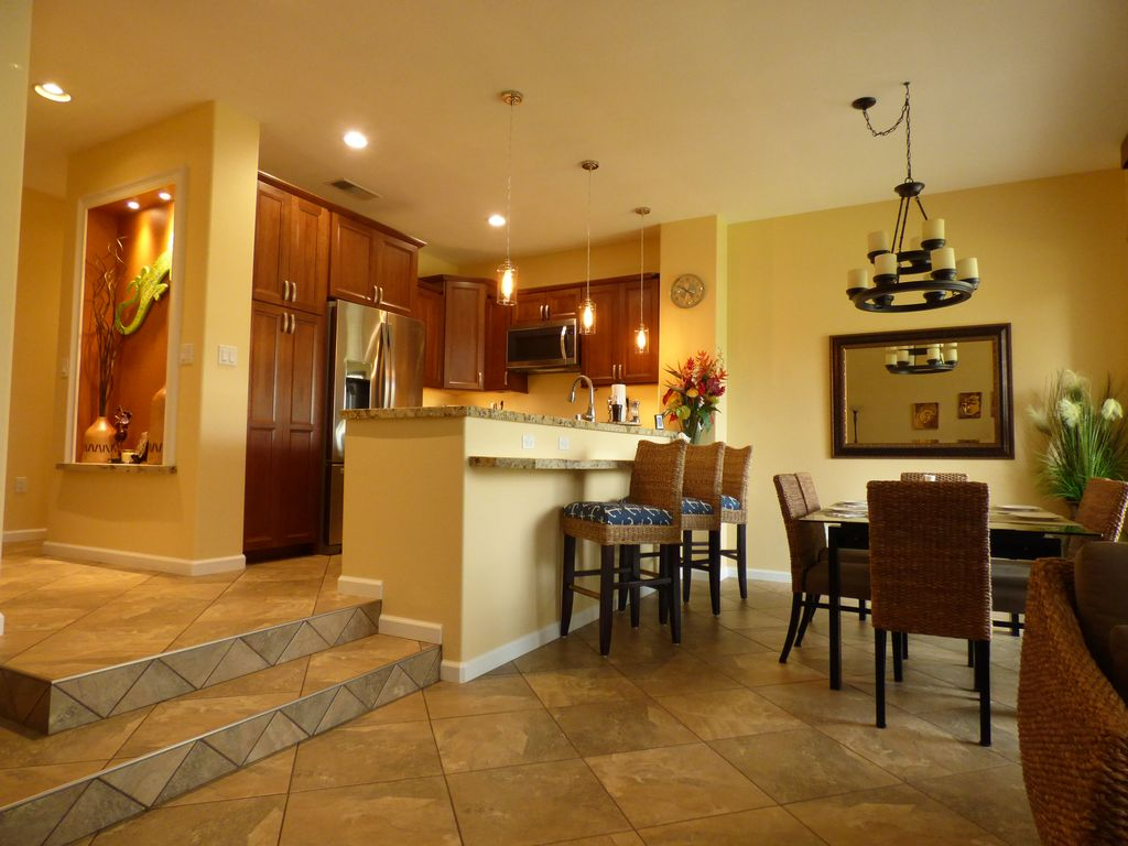 private tropical villa in paradise newly remodeled kitchen puako