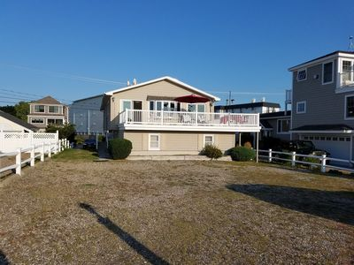 Photo for Oceanfront Home with nice sandy beach, with public bathrooms.
