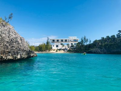 Photo for Spectacular New Beachfront Estate on Calm Caribbean Cove; Private Beach, Pool