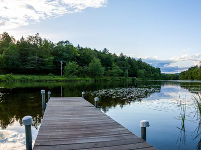 Cottage across street from the lake w/60-ft water frontage access, private dock!