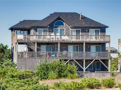 Photo for Indulge in this Oceanfront Salvo Home! Pool, Hot Tub, Game Room, Screened Porch