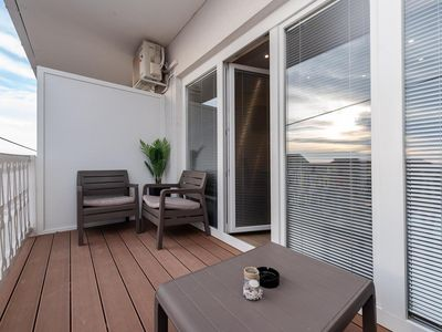 Photo for Two bedroom apartment with terrace and sea view Sukošan, Zadar (A-5906-d)
