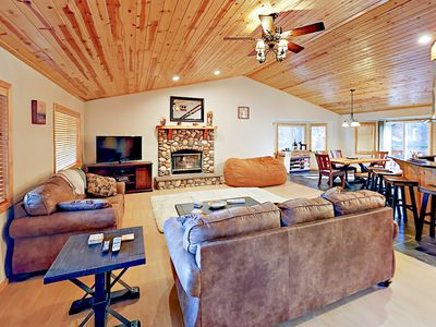 Photo for 3BR w/ Private Hot Tub & Large Deck - 1 mile to Snow Summit & Bear Mountain