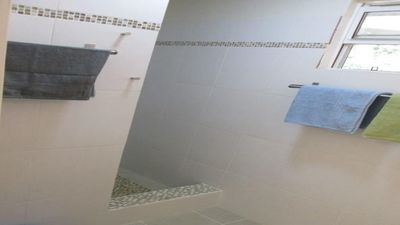 Entrance to the shower.