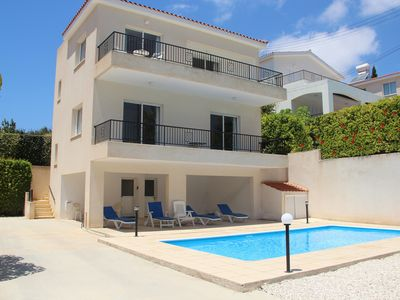 Photo for Spacious 2 Bed Villa, Sea & Mountain Views, own pool & Gardens, WiFi, UK TV