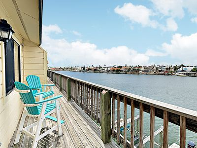 Photo for Canal-Front Gem w/ Pool, Dock & Private Balcony Overlooking Water