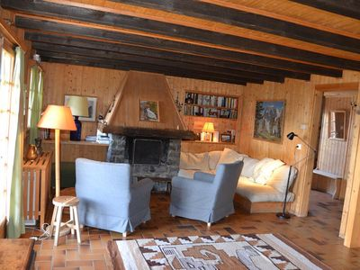 Photo for Outside : flat on the ground floor and on the 1rst floor of a chalet, for 8 persons, access from the