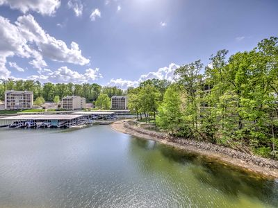 Photo for NEW! Waterfront 1BR Lake Ozark Condo w/Lake Views!