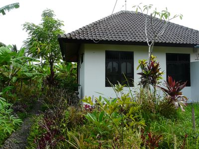 Side of the bungalow from the garden