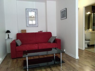 Photo for Furnished studio with parking ideally located, close to racecourse and beach on foot.