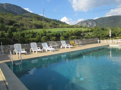 Photo for Promo Farmhouse dependance near Sisteron quiet with pool ideal family.