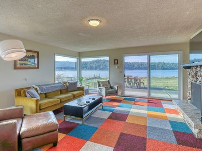 Photo for NEW LISTING! Modern, dog-friendly, waterfront home w/ a bay view