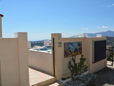 Photo for Villa Elisa - Penthouse with balcony overlooking the Mediterranean and the Alps