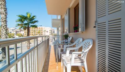 Photo for Spacious family apartment in S'illot beach
