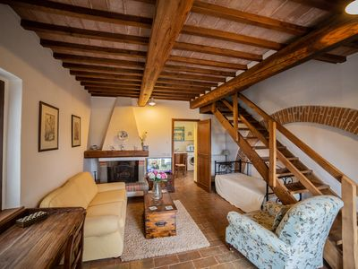 Photo for Charming apartment sleeping 5 people between Cortona and Montepulciano