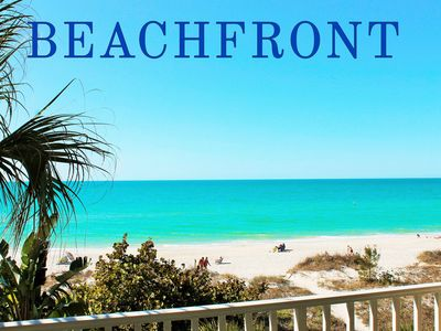 Photo for Direct Beach Front - Large Balcony - Amazing Views - Newly Updated