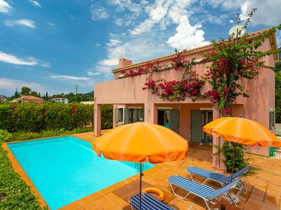Photo for Villa Vali: Large Private Pool, Walk to Beach, Sea Views, A/C, WiFi, Car Not Required