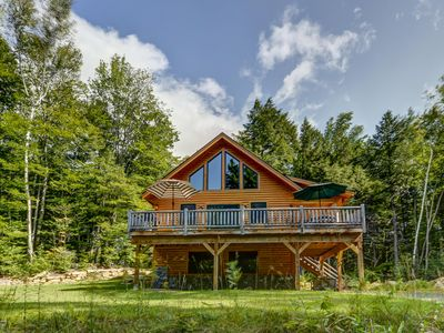 Photo for Gorgeous 4BR Log Home Near Storyland & North Conway. AC, Large Deck, WiFi!