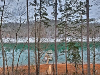 Photo for Cozy Lakefront Cabin in Quiet Cove w/Private Dock!