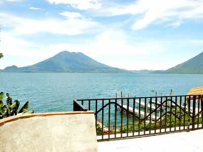 Photo for Lakeside Villa Lake Atitlan, Guatemala - Volcano View