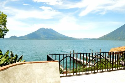 Magnificent volcano views from patio