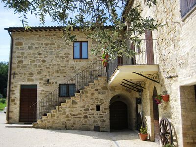 Photo for Beautiful apartment in a farmhouse just steps from Assisi