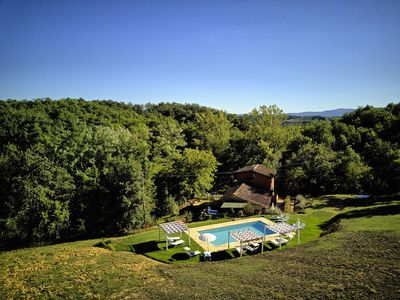 Photo for Cosy apartment in villa for 3 people with hot tub, pool, WIFI, TV, patio, pets allowed and parking