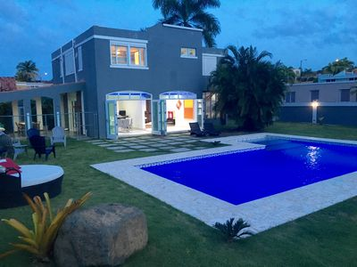 Photo for Beautiful Villa, private pool by Rainforest & Luquillo Beach, great huge garden