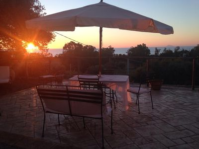 Photo for Villa on two levels surrounded by olive trees just a few meters from the sea