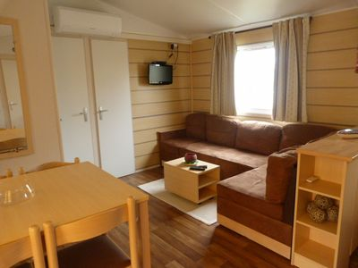 Photo for RENT MOBILE HOME 6-8 PERS CLIM / TERRACE - THE SIBLU CHARMETTES 4 * - LES MATHES