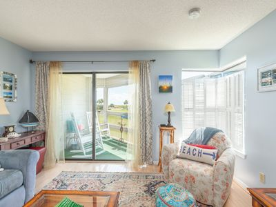 Photo for Snowbird rates available | Charming Ground-Level Condo with Beach Views from Covered Patio