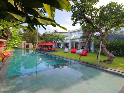 Photo for Family Friendly Private Villa, 5 BR, Canggu w/ staff