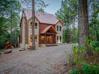 Photo for Family Log Cabin, Built 2019, Hot Tub. Sleeps 14.  **Winter Special***