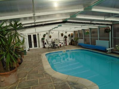 Photo for large bungalow near harrogate with hot tub and pool