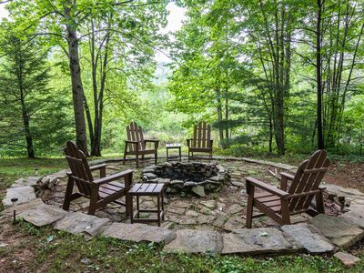 Photo for Secluded Log Cabin with Fire Pit near Asheville! Includes Biltmore!