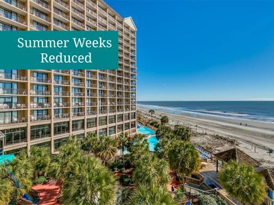 Photo for N. Myrtle at its Best! Gorgeous Oceanfront Views, Lazy River, Tennis & More!