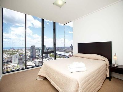 Master Bed - view from 34 floors up