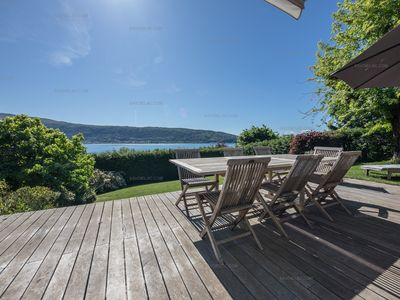 Photo for Lake Annecy - Veyrier du Lac: Superb villa for 8 people, direct access to the beach